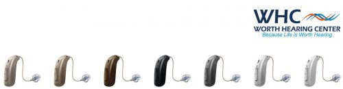 slider image of various types of hearing aids